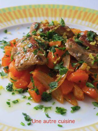 Sauté de veau aux carottes et citron