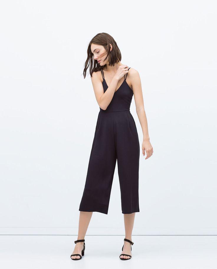 image 1 of spaghetti strap jumpsuit from zara jumpsuit. Black Bedroom Furniture Sets. Home Design Ideas