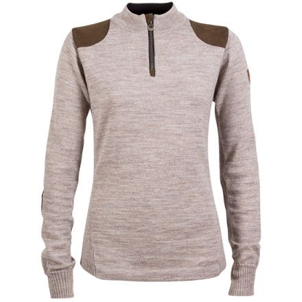 """""""The Women's Furu sweater from Dale of Norway is inspired by Norwegian hunting traditions going back years and years. Its fine craftsmanship and elegant styling will last for years as well. Shoulder and elbow panels add a nice accent and unique look that you won't find on many modern styles."""""""