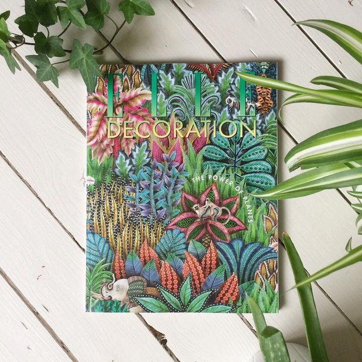 Ardmore Cole & Son wallpaper makes front cover of Elle Decoration Magazine