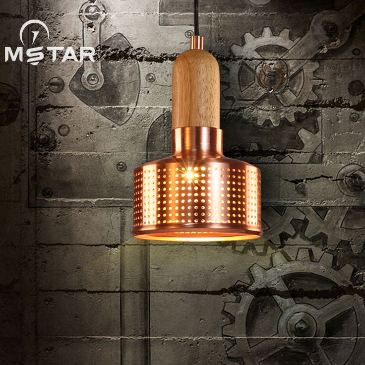 American country Vintage industrial iron single head small pendant lights restaurant bar bar creative Loft staircase Lighting