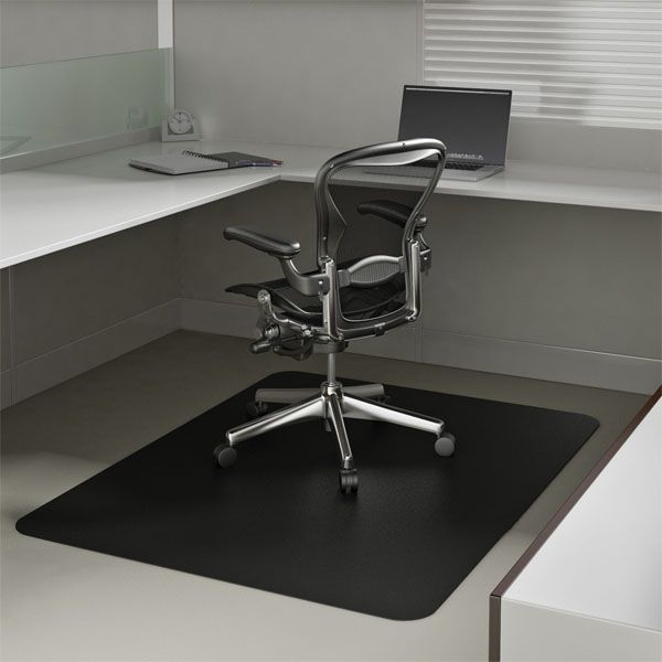 Marvelous Black Chair Mats Are Black Office Desk Mats By American Floor Mats