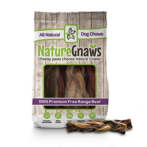 Nature Gnaws Braided Bully Sticks 5-6″ (10 Pack) – 100% Natural Grass-Fed Free-Range Premium Beef Dog Chews Searching   photos? - http://dogramp.org/product/nature-gnaws-braided-bully-sticks-5-6-10-pack-100-natural-grass-fed-free-range-premium-beef-dog-chews/