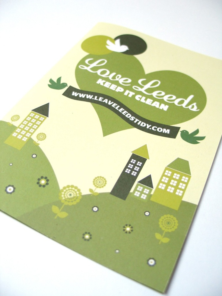 Leave Leeds Tidy // Leaflet  Print // Illustration // Leaflet // www.nataliemortondesign.co.uk