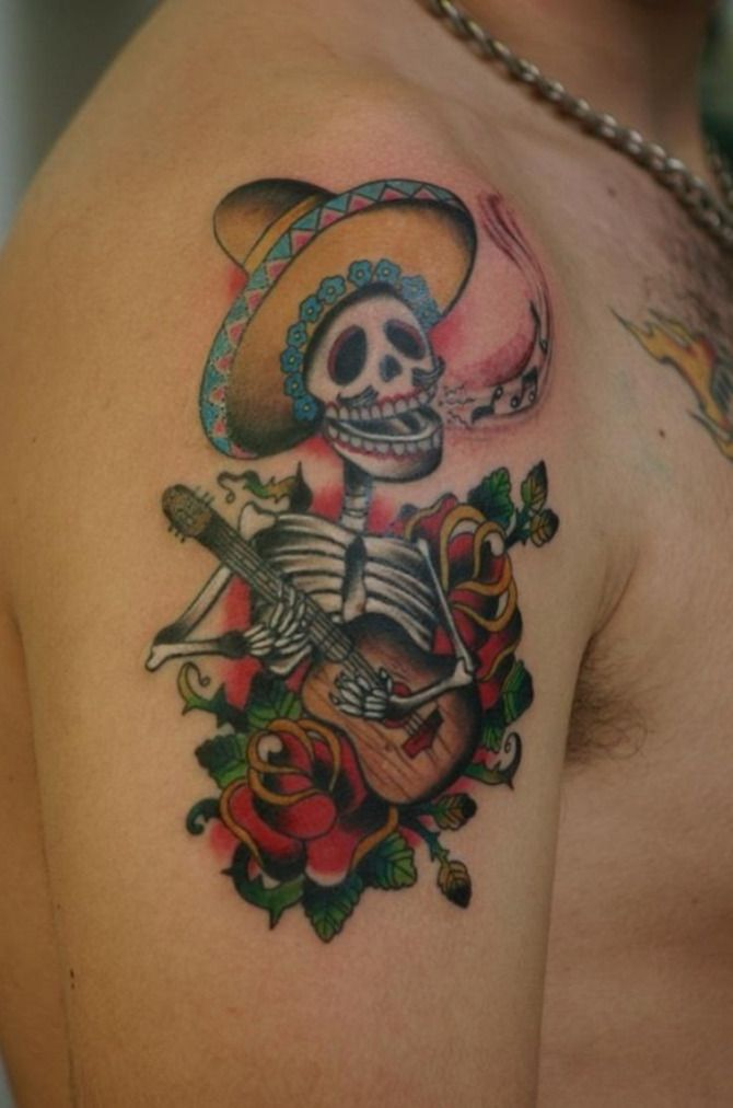 7 best mexican tattoos images on pinterest tattoo artists arte mexicano and colorful tattoos. Black Bedroom Furniture Sets. Home Design Ideas
