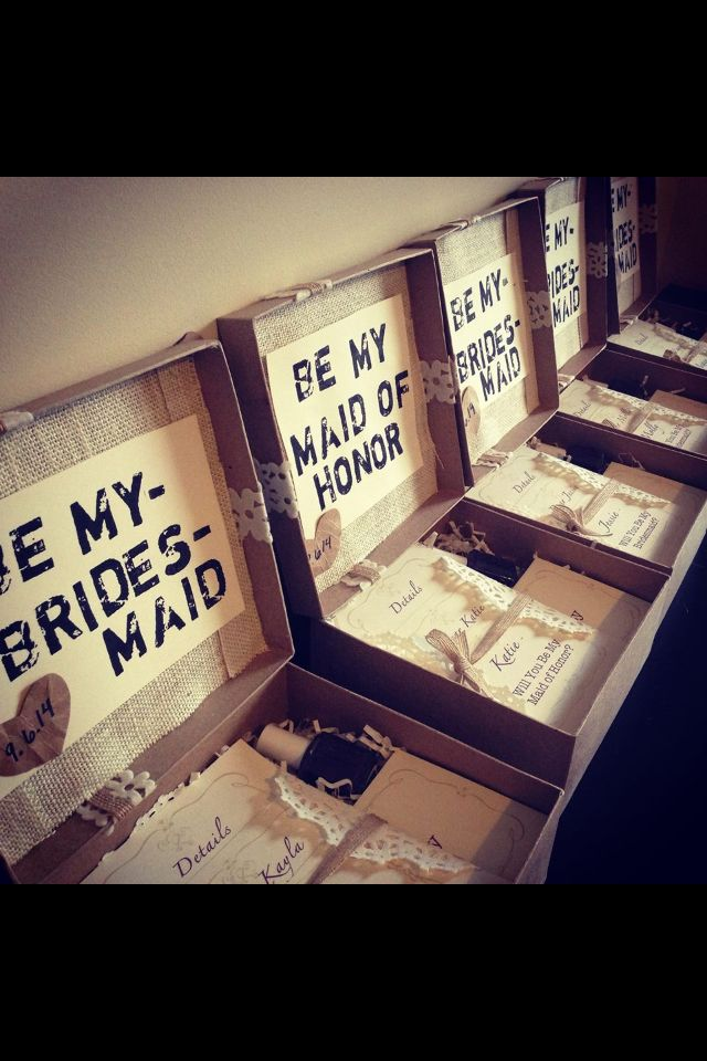 Fabulous Way To Ask Your Bridesmaids And Have Them Feel Special Wedding In 2018 Pinterest Bridesmaid Asking