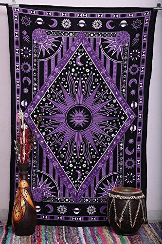 Purple Burning Sun Tapestry, Celestial Sun Moon Planet Tapestries, Hippie Hippy Wall Hanging, sun moon tapestry, twin Psychedelic tapestry, Burning Sun Tapestries, Bohemian Wall hanging, dorms tapestries, beach sheet | shopswell