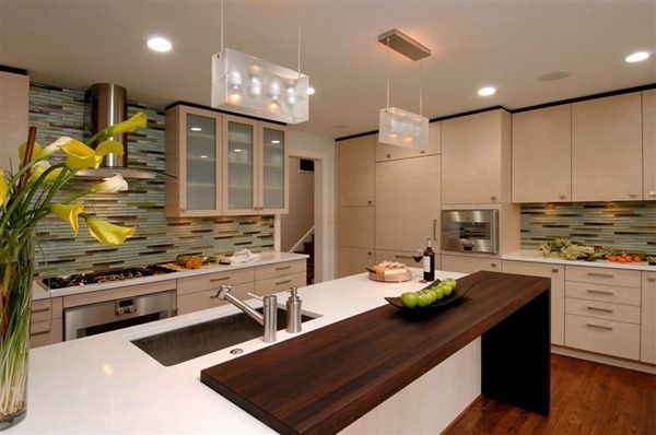cabinets and dark wood accents Design Tips to Brighten Up A Dark