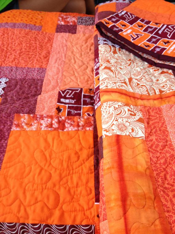 Custom Quilts - Virginia Tech by YourLifeInStitches