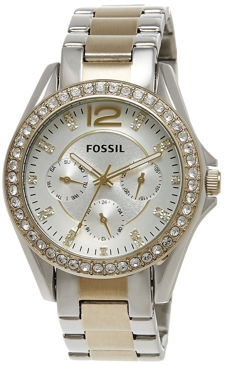 Amazon.com: Fossil Women's ES3204 Riley Silver and Gold Tone Watch: Fossil Watches: Watches