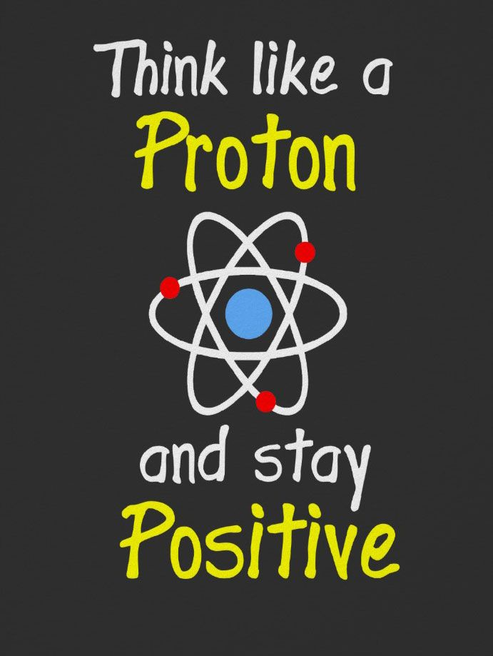 think like a proton, showing an entire atom that's also incorrect but it's recognizable n a good motif