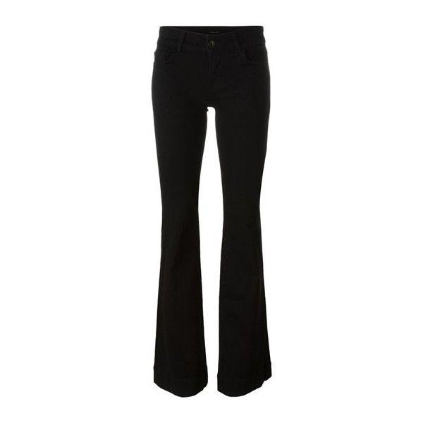 J BRAND 'Lovestory' Flared Jeans (4.073.780 IDR) ❤ liked on Polyvore featuring jeans, black, j brand, flared jeans, j brand jeans and flare jeans
