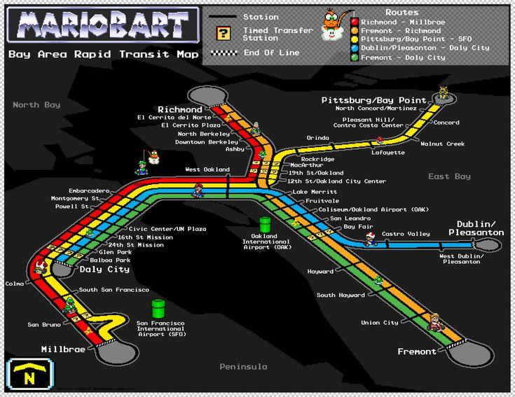 Atlanta's MARTA Map – Super Mario 3Style    http://davesgeekyideas.com/tag/map/