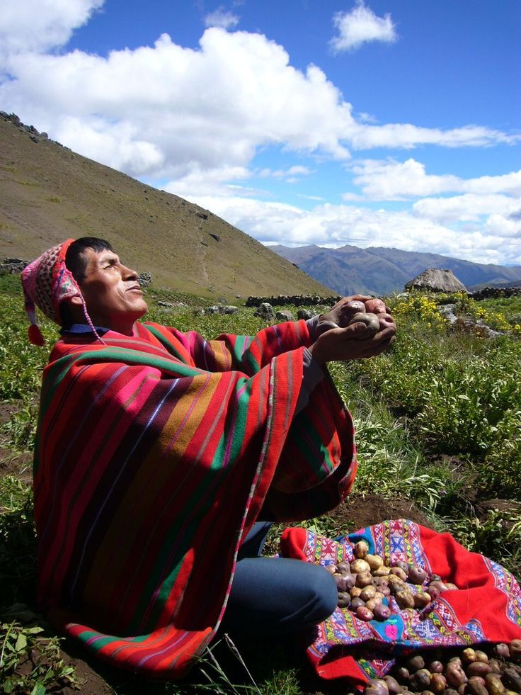 Offering to the Mother Earth or Pachamama Andean Rituals and Religiousness