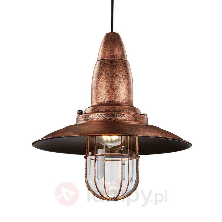 Fisherman – lampa wahadłowa, antyczna miedź 9005097