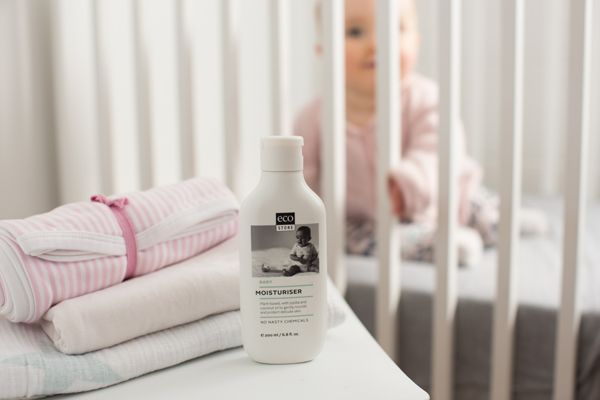 ecostore's nourishing, gentle Baby Moisturiser has a soft natural fragrance of lavender and geranium, with #nonastychemicals No parabens, no synthetic dyes or perfumes, no mineral oil and no dimethicone and is #crueltyfree Photo: Greta Kenyon