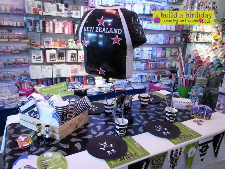 Football fan's here's our rugby themed party supplies