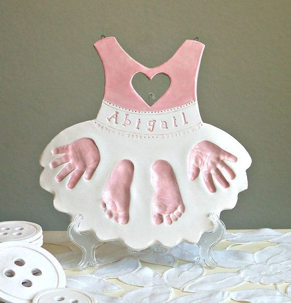 Personalized Baby Keepsake Gift for Baby and by TheBabyHandprintCo
