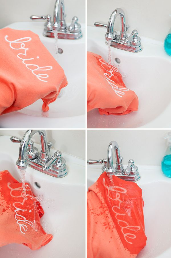 How to easily make bridal party t-shirts using a Clorox bleach pen!!!