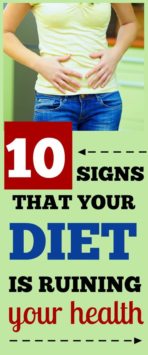 10 Signs of Poor Nutrition - Is Your Diet Ruining Your Health?  #poornutrition #diet