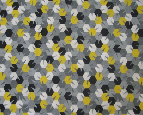 1960s Geometric Print Fabricgrellow