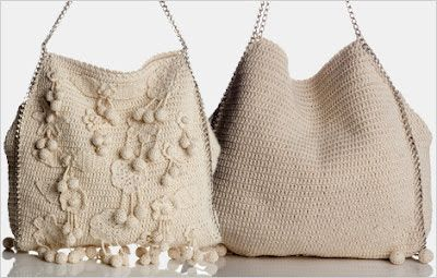 Crochet Designs Free: An elegant raw crochet bag with chain strap - Revenue and graphic. beautiful. share.