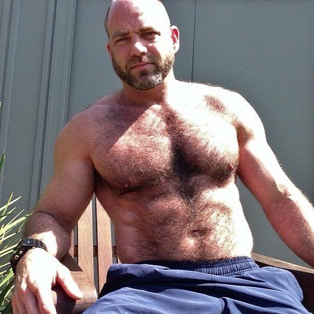 Masculine muscular hairy bear men-7229
