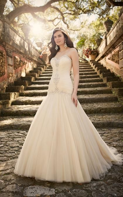 Sheath Style Wedding Dresses Diamante Beading Tulle Wedding Dresses 2016 Sweetheart Ruched Bodice Blush Pink Bridal Gowns Chapel Train Drop Waist Discount Wedding Dress From Adminonline, $141.36| Dhgate.Com