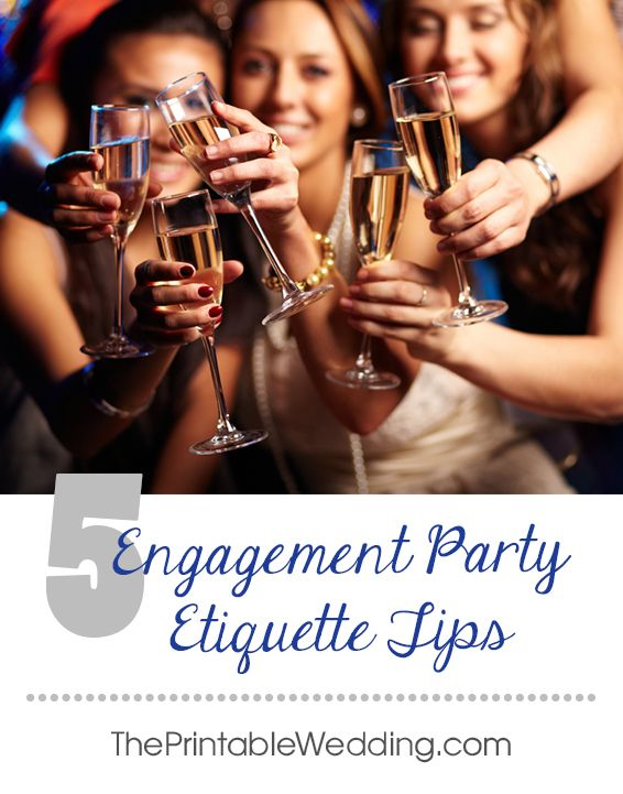 The last thing you want is for your engagement party to be marred by embarrassment or hurt feeling on the part of either hosts or guests. Follow these few simple etiquette rules and you'lll celebrate your engagement without a hitch.