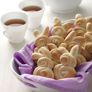 Cute Easter bunny rolls
