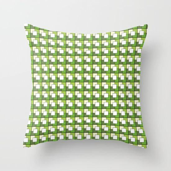 Green cushion cover Geometric throw pillows by ShadowbrightLamps