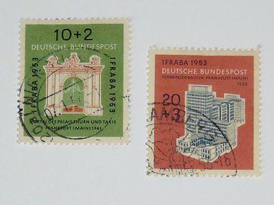 Stamp Pickers Germany 1953 Stamp Expo Semi-Postals Scott #B332-B333 VFU $50