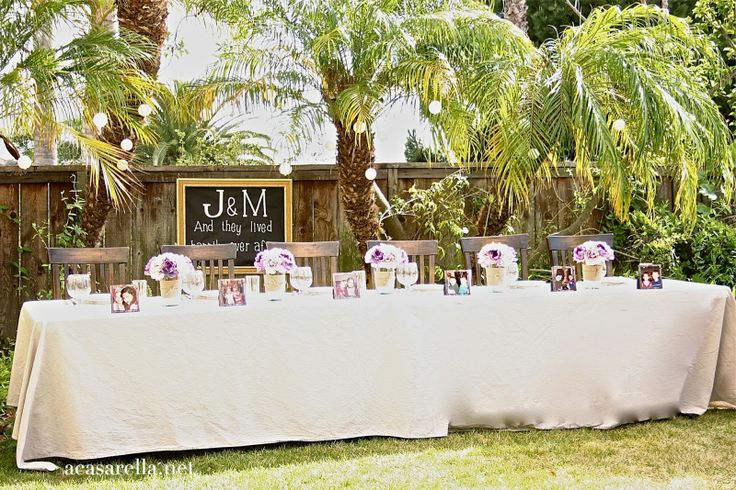 Intimate Rustic Backyard Wedding: Showcase Shutterfly Prints On The Table For A Backyard