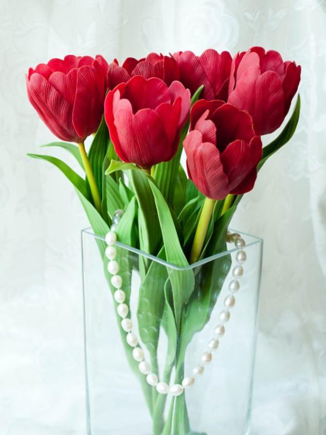 Цветы из холодного фарфора - Часть 3. Тюльпаны - Ярмарка Мастеров - ручная работа, handmade
