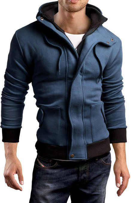 Grin&Bear Men double collar sweatshirt