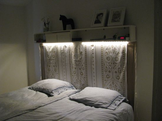 Headboard made from Benno DVD tower | IKEA Hackers Clever ideas and hacks for your IKEA