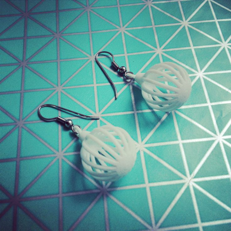 3D printed earrings!