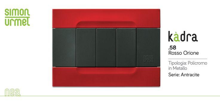 Rosso Orione. Nea Kàdra è unicità di design, pensata per un pubblico fuori dagli schemi. Incontro fra forme e colore: dal puro bianco al policromo più audace. Simon Urmet https://www.facebook.com/simonurmetit #Nea #Kadra #Flexa #Expi #SimonUrmet #urmet #Placche #plates #electric #architecture #style #design #stile #ristrutturazione #impianto