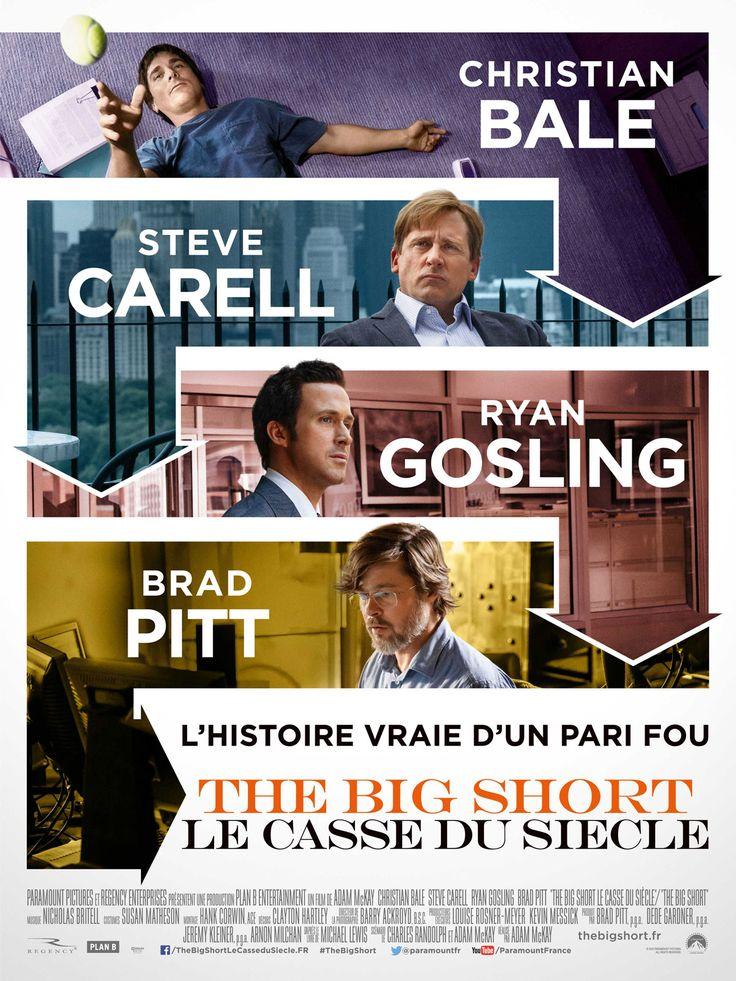 The Big Short : le casse du siècle est un film de Adam McKay avec Christian Bale, Steve Carell, Ryan Gosling. Synopsis : Wall Street. 2005. Profitant de l'aveuglement généralisé des grosses banques, des medias et du gouvernement, quatre outsiders anticipent l'explosion de la bulle financière... http://www.allocine.fr/film/fichefilm_gen_cfilm=227900.html