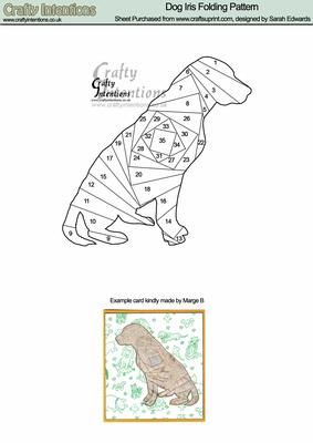 Dog Iris Folding Pattern on Craftsuprint designed by Sarah Edwards - Dog Iris Folding Pattern - Now available for download!