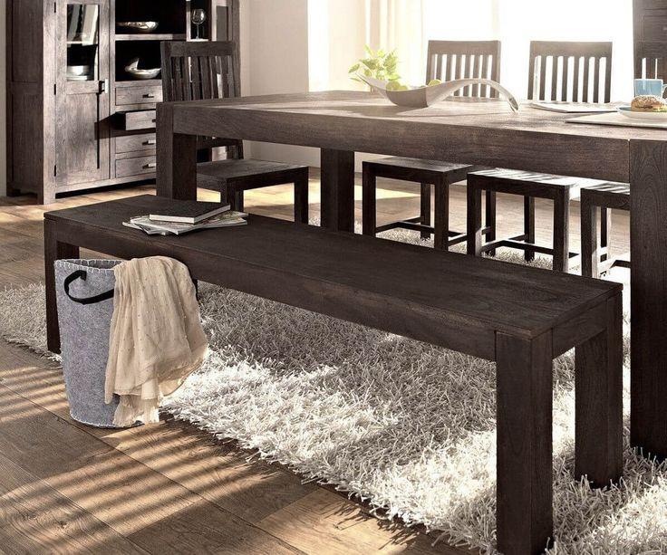 Sitzbank Akazie Tabak Cm Sandgestrahlt Massivholz Holzbank Für U20ac   DELIFE #  Wohnideen # Kostenloser Versand # Zertifizierter Möbel Shop