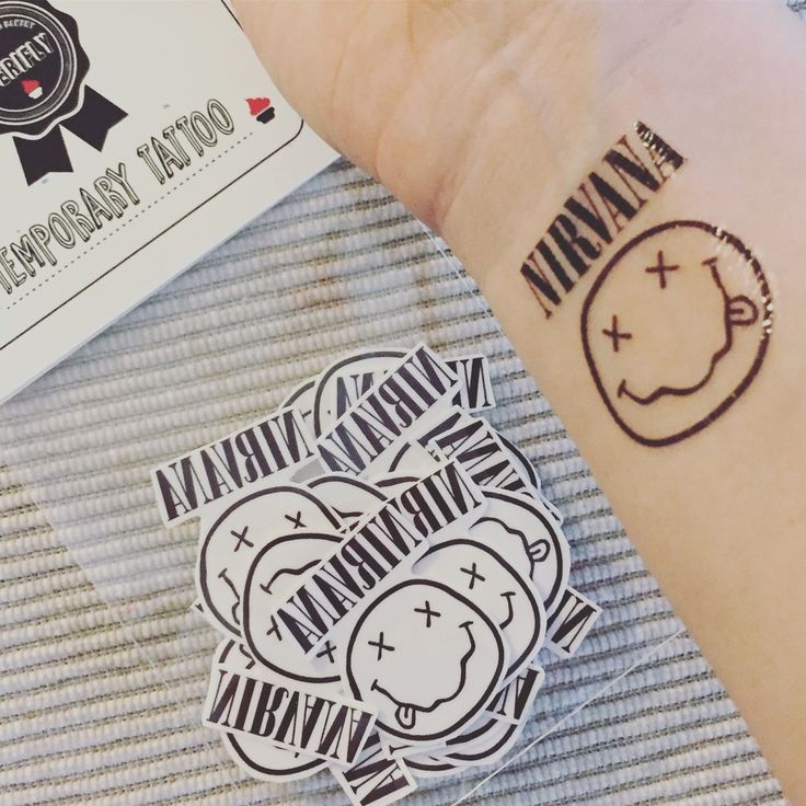Nirvana temporary tattoo