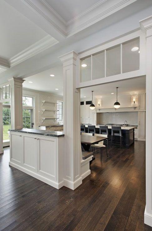 Kitchen half wall bench kitchens pinterest - Half wall interior design ...