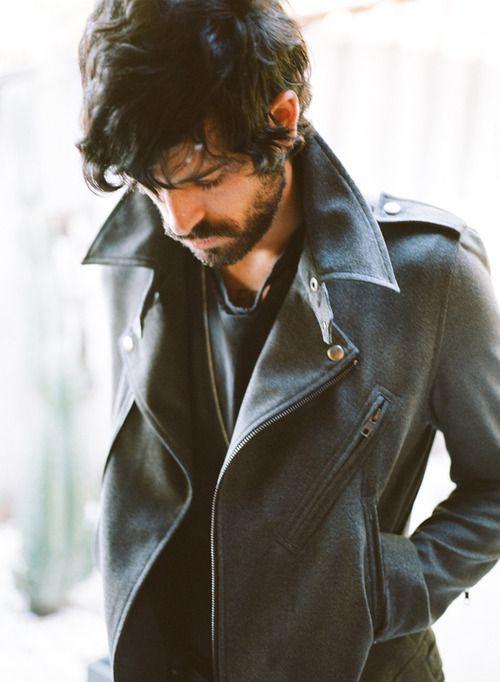 Men Clothing, Biker Jackets, Men Style, Devendra Banhart, Style Icons, Men Fashion, Style Men, Leather Jackets, Winter Coats