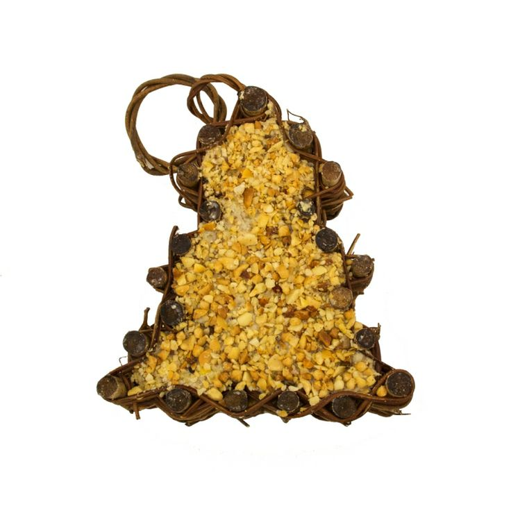 TREE-SU Suet Vine Shaped Tree. Has vine form with ring for hanging and ribbon for decoration.