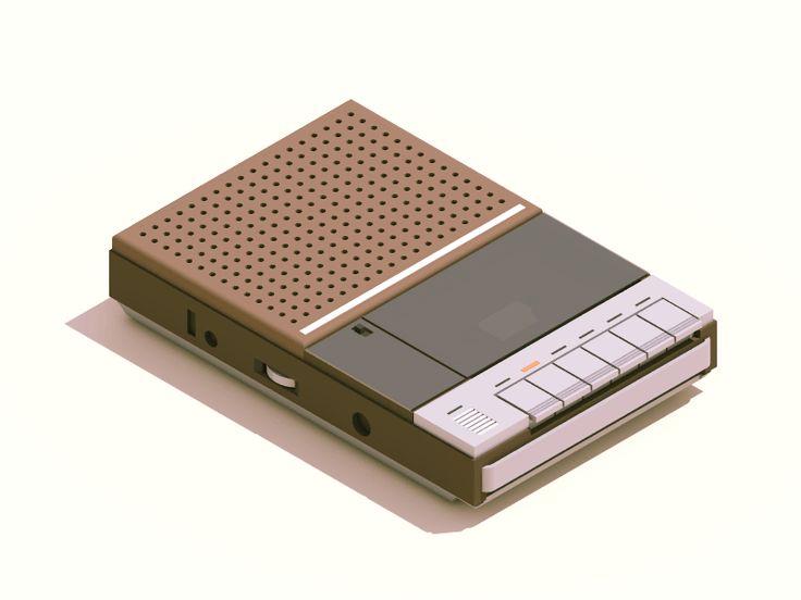 Cassette Player by Guillaume Kurkdjian #Design Popular #Dribbble #shots