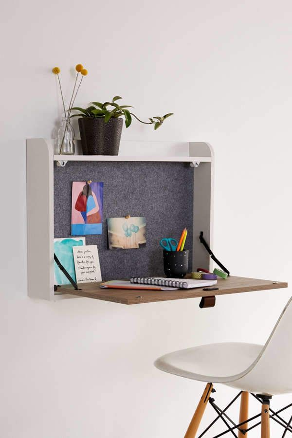 Rooney Wall Mounted Desk Wall Mounted Desk Desks For Small