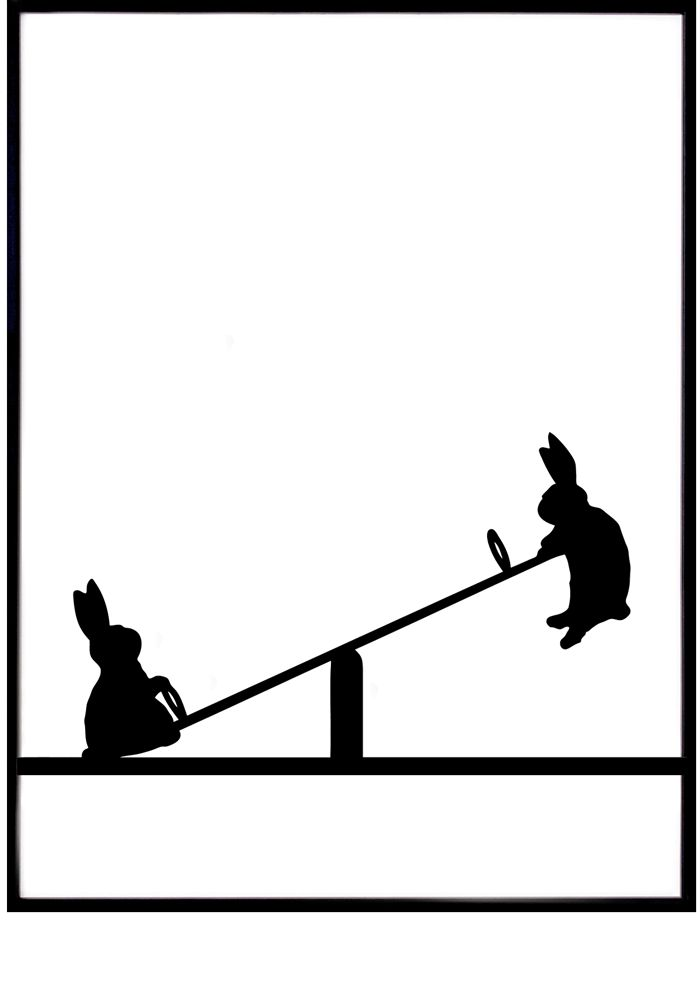 BEST SELLER! Black & White Rabbit prints by HAM — Bodie and Fou - Award-winning inspiring concept store