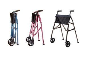 Andador plegable con ruedas y altura ajustable - Vida Abuelo
