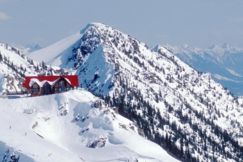 Eagle Restaurant in Golden, BC Kicking Horse Resort. Amazing food and views of the Rockies. Love it there.